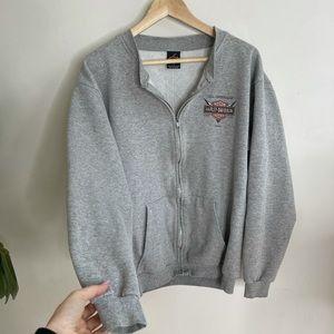 Vintage Harley Davidson gray sweatshirt zip up